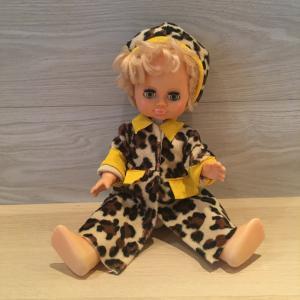 Кукла СССР   в платье, глазки, высота 35 см.
