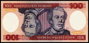 Банкнота иностранная 1981  Бразилия, 100 крузейро