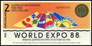 2 доллара 1988  (ЭКСПО) Австралия
