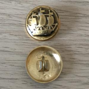 Пуговица СССР   Фрегат, Корабль, Парусник, ц.12к, цена за 1 шт.