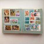 Альбом с марками   281 шт, Фиджи, Венгрия, Уганда, ГДР, СССР, Корея и США