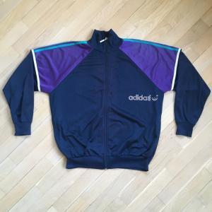 Олимпийка из 90-ых   Adidas, винтажная, Размер 48, М, привезли из ГДР