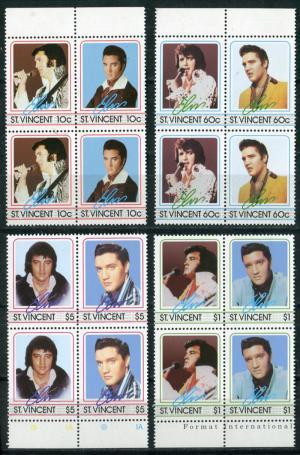 Квартблок 1985  50-летие Элвиса Пресли  (№870-877)