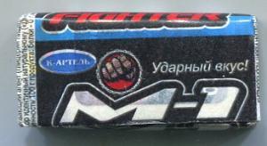 Жевательная резинка 2014 К-Артель M-1 Fighter