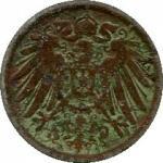 5 пфеингов 1914  Германской империи (1871-1922)