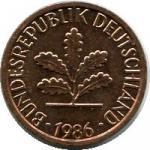 1 пфенинг 1948  Западная Германия (ФРГ) (1948-1989)