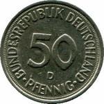 50 пфенингов 1979 D Западная Германия (ФРГ) (1948-1989)