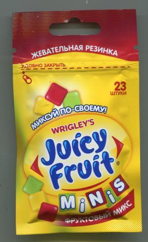 Жевательная резинка 2016 Wrigleys Juicy Fruit minis