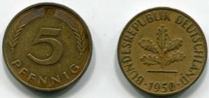 5 пфенингов   Германии