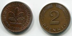 2 пфенинга   Германии
