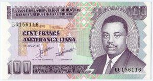 100 франков 2011  Бурунди