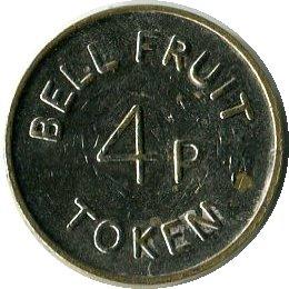 Игровой жетон   Bell Fruit Token 4p
