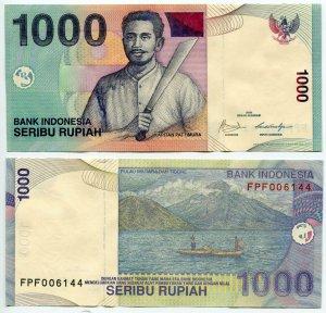 Банкнота иностранная 2009  Индонезия, 1000 рупий