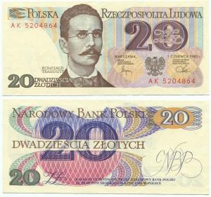 20 злотых 1982  Польша