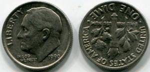 10 цент (one dime)   США