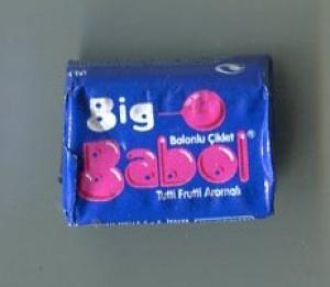 Жевательная резинка 2011  Big Babol (синяя)