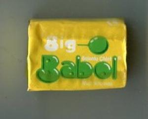 Жевательная резинка 2011  Big Babol желтая