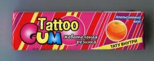 Жевательная резинка 2014  TattooGUM апельсин