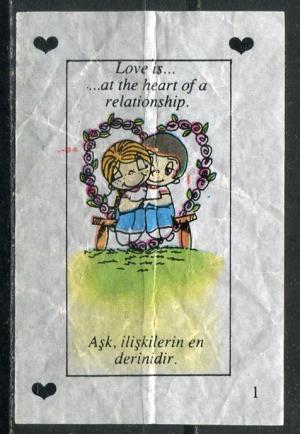 Вкладыш 1992  Love is, 1 серия, #1