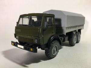 Модель  АРЕК КАМАЗ 4310 бортовой, хаки, серый