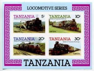 Блок 1985  Локомотивы Танзания
