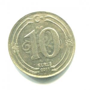 Монета 2011  10 курушей, Турецкая Республика