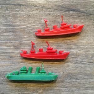 Игрушка   Солдатик, корабли, Эсминец, Линкор, 3 шт.