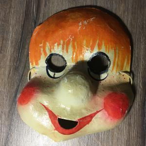 Карнавальная маска   Детская СССР, папье-маше, картон