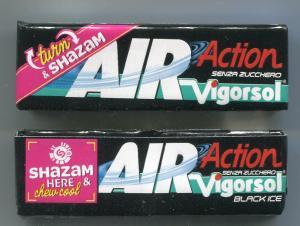 Жевательная резинка 2018  AIR Action Vigorsol black ice