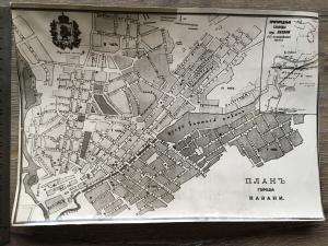 Фотография   плана г.Казань с территориями полицейских частей