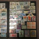 Альбом для марок   8 листов, 9 строк, 22,5х29 см, и 550 марок