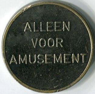 Игровой жетон   Alleen Voor Amusement