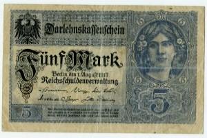 5 марок 1917  Германия