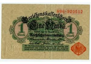 1 марка 1914  Германия