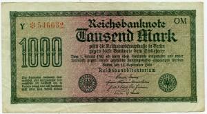 1000 марок 1922  Германия