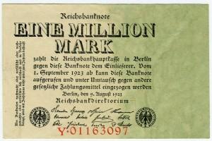 1 млн. марок 1923  Германия