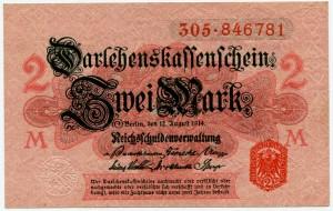 2 марки 1914  Германия