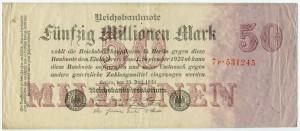 50 млн. марок 1923  Германия