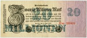 20 млн. марок 1923  Германия