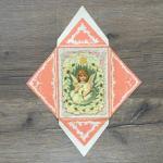Конверт 1905  В пямять о священном крещении, ангел, Германия,