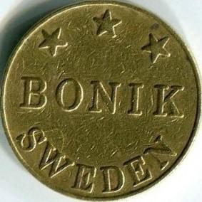 Жетон   Boniс (Sweden)