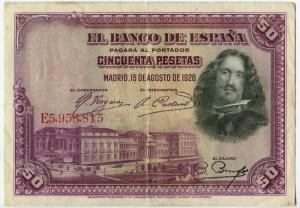 50 песет 1928  Испания