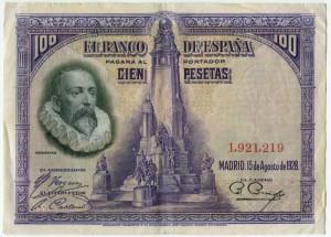 100 песет 1928  Испания