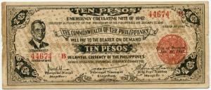 10 песо 1942  Филиппины