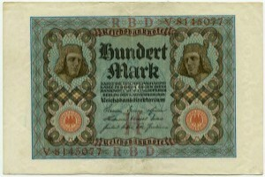 100 марок  1920  Германия