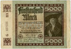5000 марок 1922  Германия