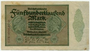 500 000 марок 1923  Германия