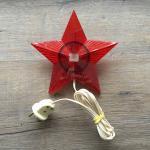 Звезда электрическая   на новогоднюю елку, неоновые газоразрядные лампы