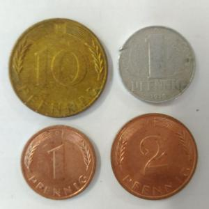 Набор монет   Германии 4 шт. Цена за все