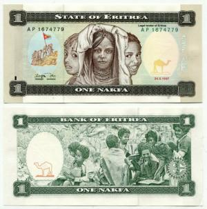 Банкнота иностранная 1997  Эритрея, 1 накфа